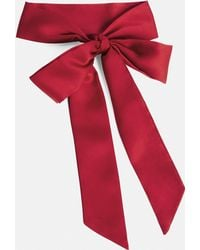 Missguided - Red Bow Choker Necklace - Lyst