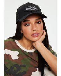 Missguided - Von Dutch Black Mesh Baseball Cap - Lyst