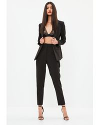 Missguided - Black Cigarette Trousers - Lyst