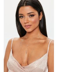 Missguided - Gold Look Cherub Layered Necklace - Lyst