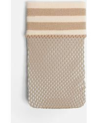 Missguided - Nude Sports Stripe Fishnet Socks - Lyst