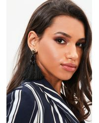 Missguided - Black Tassel Earrings - Lyst