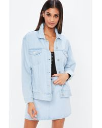 Missguided - Nabilla X Blue Oversized Denim Jacket - Lyst