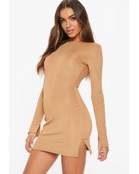 Missguided - Fanny Lyckman X Camel Bandage Bodycon Dress - Lyst