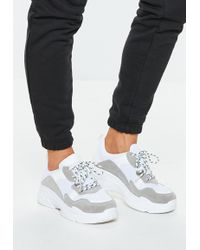 Missguided - Grey Chunky Trainers - Lyst