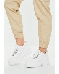 Missguided - White Super Chunky Sole Sneakers - Lyst