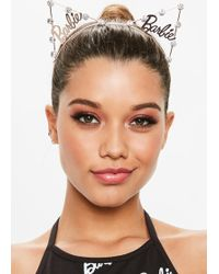 Missguided - Barbie X Rose Gold Cat Ear Head Band - Lyst