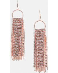 Missguided - Chainmail Diamante Tassel Earrings - Lyst