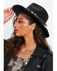 Missguided | Black Western Style Hat | Lyst