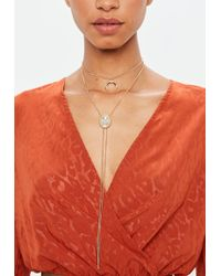 Missguided - Gold Western Long Chain Choker Necklace - Lyst