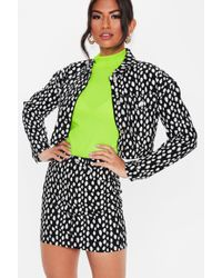 092f69181f Lyst - Missguided White Spot Print Tie Side Mini Skirt in White