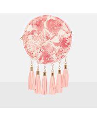Missguided - Pink Circle Embossed Tassel Bag - Lyst