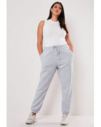 Missguided Plus Size Grey Oversized 90's Joggers