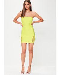 Missguided - Green Premium Bandage Mini Dress - Lyst
