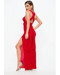 Missguided - Red Slinky Multiway Maxi Dress - Lyst