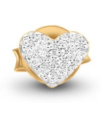 Missoma - Gold Single Pave Heart Stud - Lyst