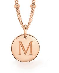 Missoma - Rose Gold M Initial Necklace - Lyst