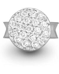 Missoma - Silver Single Pave Round Stud - Lyst