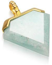 Missoma - Amazonite Shield Pendant - Lyst