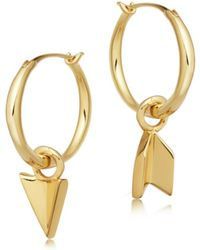 Missoma - Mini Mismatched Arrow Charm Hoops - Lyst