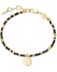 Missoma - Beaded Black Spinel Sphere Bracelet - Lyst