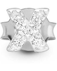 Missoma - Silver Single Pave X Stud - Lyst