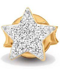 Missoma - Gold Single Pave Star Stud - Lyst