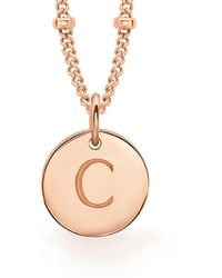 Missoma - Rose Gold C Initial Necklace - Lyst