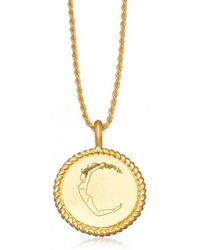 Missoma - Body Language C Initial Necklace By Fee Greening - Lyst