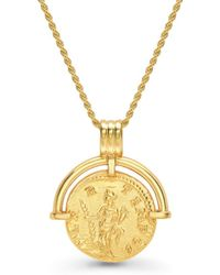 Missoma - Lucy Williams X Solid Hinged Coin Necklace - Lyst