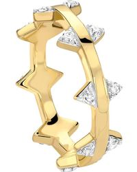 Missoma - Pave Double Arrow Ring - Lyst