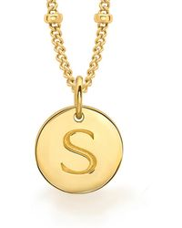 Missoma - Gold S Initial Necklace - Lyst