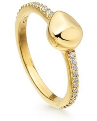 Missoma - Gold Pave Nugget Ring - Lyst