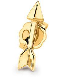 Missoma - Single Gold Arrow Stud - Lyst