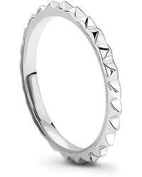 Missoma - Silver Pyramid Ring - Lyst