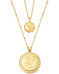 Missoma Gold Ode To Rome Necklace Set - Multicolor