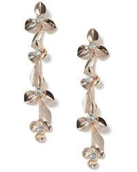 Miss Selfridge - Flower Trail Earrings - Lyst