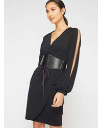 Miss Selfridge - Black Corset Belt - Lyst