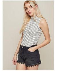 Miss Selfridge - Black Crochet Mom Shorts - Lyst