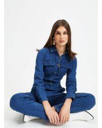 Miss Selfridge Mid Blue Utility Boiler Suit