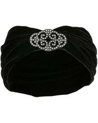 Miss Selfridge - Black Fabric Headband - Lyst