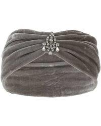 Miss Selfridge - Grey Headband - Lyst