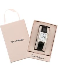 Miss Selfridge - Black Square Face Watch - Lyst