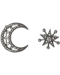 Miss Selfridge - Moon And Star Brooches - Lyst