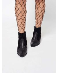Miss Selfridge - Black Jumbo Fishnet Tights - Lyst