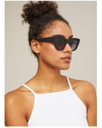 Miss Selfridge - Quay Australia Black Kitti Cat Eye Sunglasses - Lyst