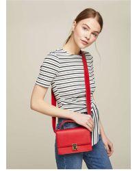 Miss Selfridge - Red Structured Cross Body Bag - Lyst