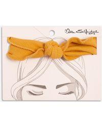 Miss Selfridge - Ochre Crinkle Headband - Lyst