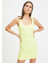 1ab99176d0 ASOS Fluro Crop Top Embellished Skater Dress in Pink - Lyst