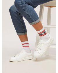 Miss Selfridge - 'go Girl' Slogan Socks - Lyst